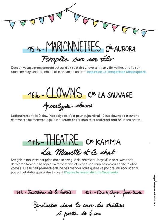 marionnettes, clowns, théatre