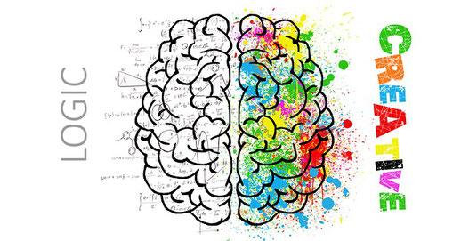 Zwei Gehirnhälften
