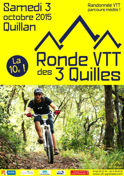 Affiche Ronde VTT des 3 Quilles 2015