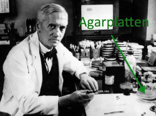 Fleming mit Penicillin