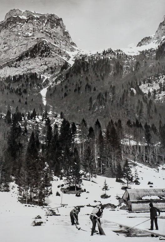 Eissägen (Sammlung Fritz Weber)