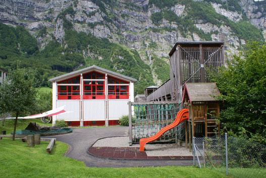 Kindergarten Grünhag vor dem Umbau der Aussenanlagen.
