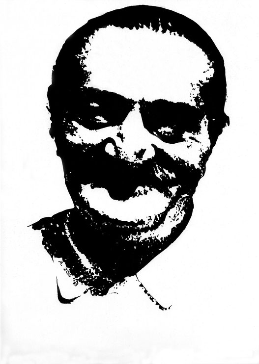 1985 : Pen & ink drawing by Anthony Zois