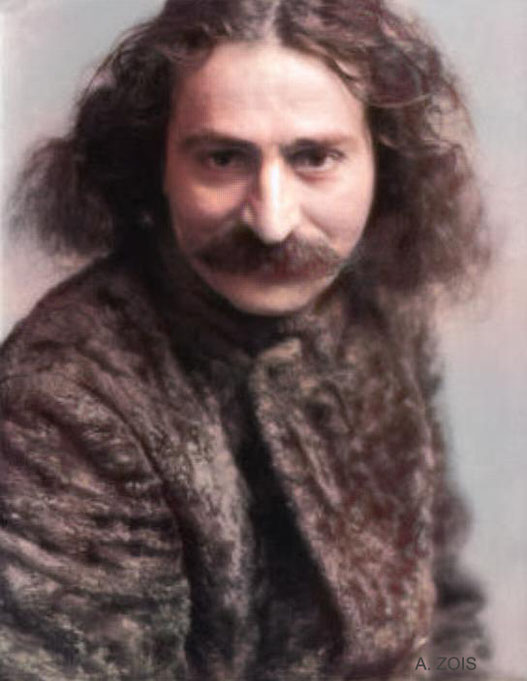 1931 : Meher Baba photographed by Kinye Imai when he visited London. This is 1 of 6 photos taken. Imaged colourized by Anthony Zois.