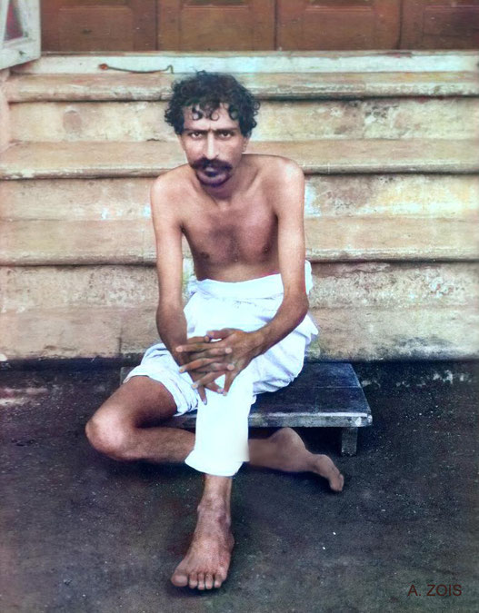 38. Meher Baba at Manzil-e-Meem, Bombay, India in 1922.