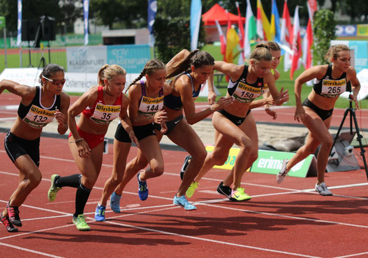 Julia Mayer Staatsmeisterschaften 800 Meter Mittelstrecke Österreichische Meisterschaften Bestzeit Kärnten Klagenfurt Siegerin Anna Baumgartner