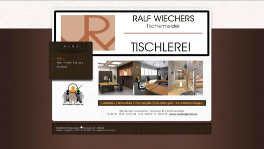 Beispiel Website: Tischlerei