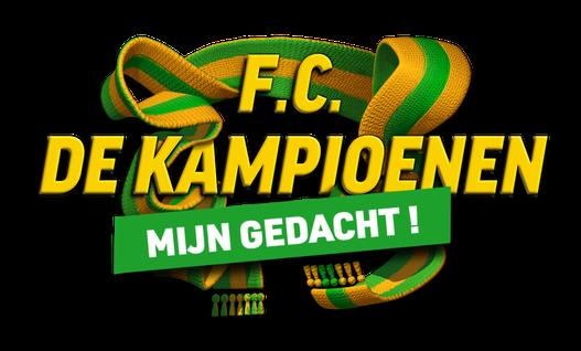 Logo F.C. De Kampioenen_Mijn Gedacht!_Sjaal Geel Groen