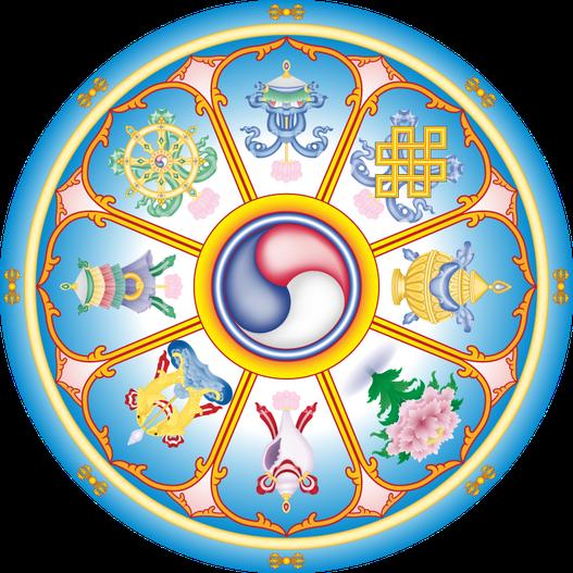 Buddhistische symbole mit bedeutung