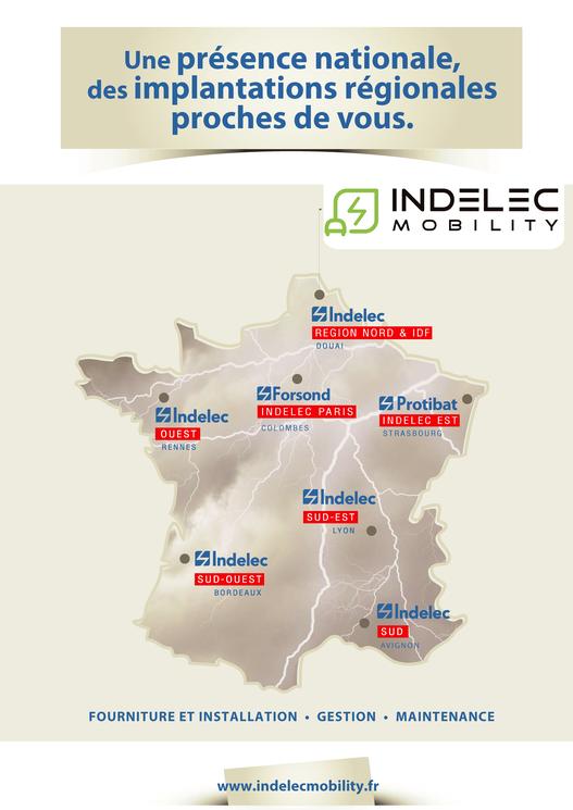 INDELEC Mobility : une présence nationale grâce à un réseau d'agences régionales