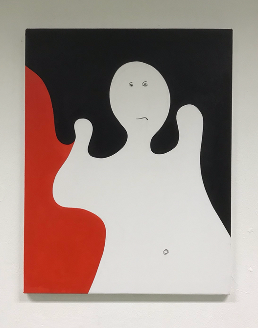 Canterville ghost , Acrylic on canvas / 90 x 70 cm / 2019 / 16