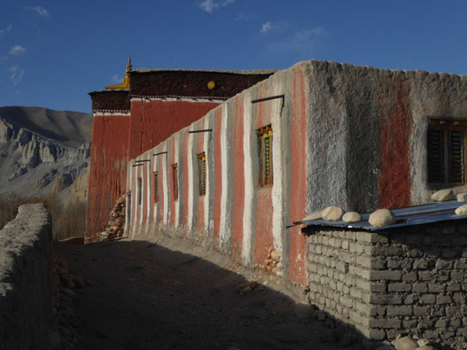 Kloster Tsarang Seitenwand