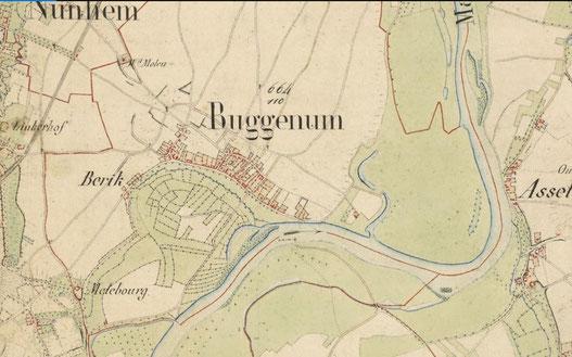 Oude kadasterkaart van Gemeente Nunhem