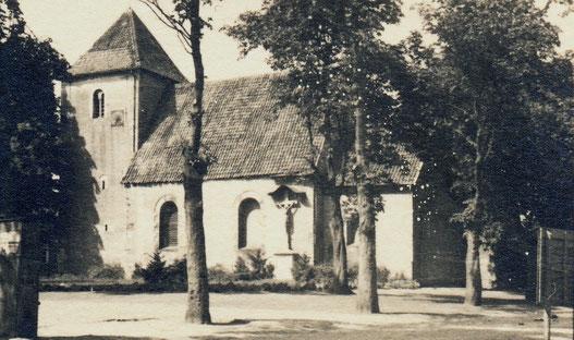 Agatha-Kirche Angelmodde - Sommer 1945 - Sammlung Stoffers (Münsterländische Bank - Stadtarchiv)