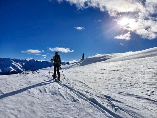 Skitour, Arosa, Graubünden, Bünderland, Sandhubel, Valbellahorn, Alteinsee, Schiesshorn, Alteiner Fürggli