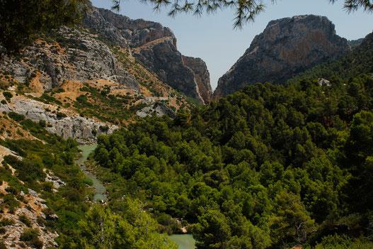 Flusstal am Caminito del Rey