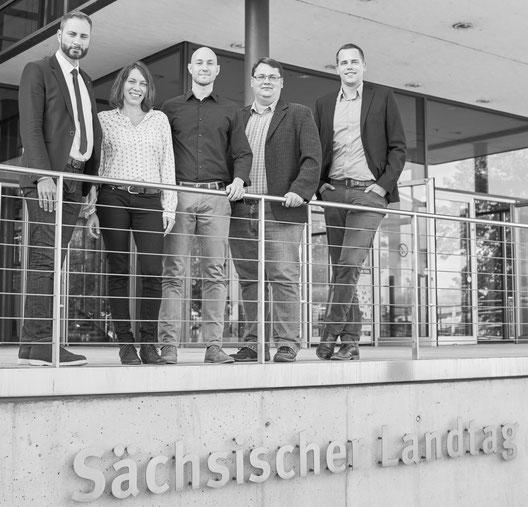 v.l.n.r: Schreiber MdL, Korte, Uhlig, Mühle, Schwenk (Foto: Philipp Cherubim)