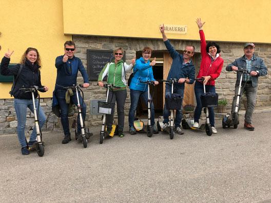 Scooter Verleih Tour in der Wachau mit Wein Bier und Landschaft. Freizeit und Ausflug der Wachau mit Scooter, Rad, Fahrrad, Segway. Ausflüge ideal zum Geburtstag, Poltern, Feiern.