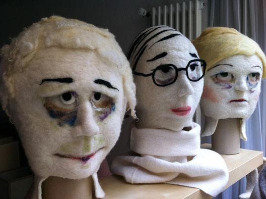 Drei Masken Touristen in Konstanz