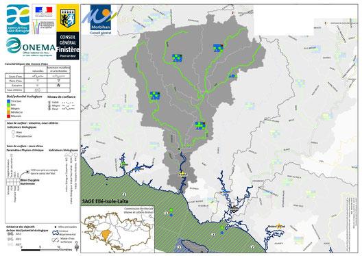 Etat écologique 2011 des eaux de surfaces
