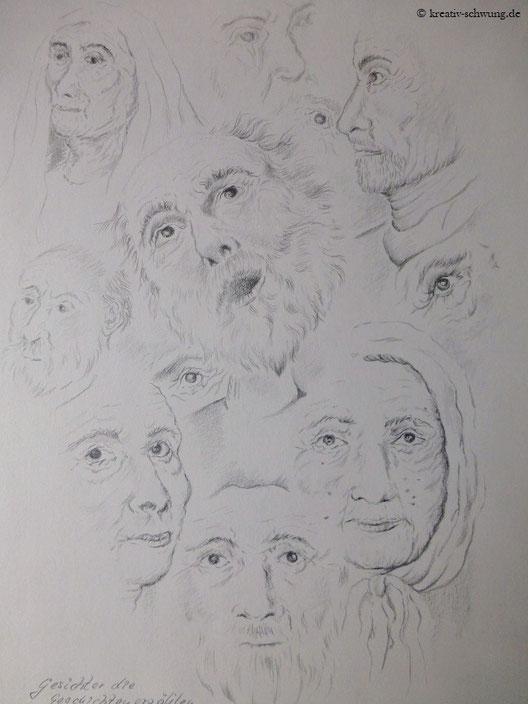 Gesichter, die Geschichten erzählen