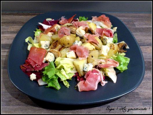 la salade ti de aux pommes de terre roquefort jambon cru oups la gourmande oo recettes. Black Bedroom Furniture Sets. Home Design Ideas