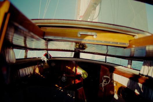 Segeltörn des Team SALZWASSERs vor der Insel Norderney.