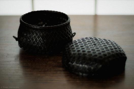 『竹組亀甲酒籠』(2018)蓋を開けて。内張りは後に(Fujifilm X-T20)