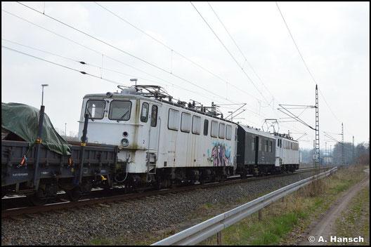 109 084-4 wurde am 20. April 2021 aus Neustrelitz nach Chemnitz überführt. Die Lok verstärkt die Flotte der Triangula GmbH. In Chemnitz-Furth wurde die Überführung erstmals dokumentiert