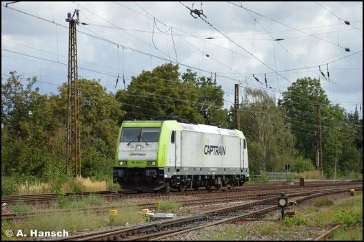 185 649-1 von Captrain begegnet mir am 2. September 2020 in Leipzig-Wiederitzsch