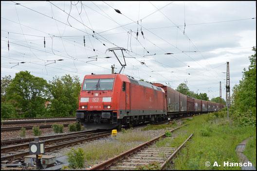 185 297-9 konnte am 15. Mai 2019 in Leipzig-Wiederitzsch gesichtet werden