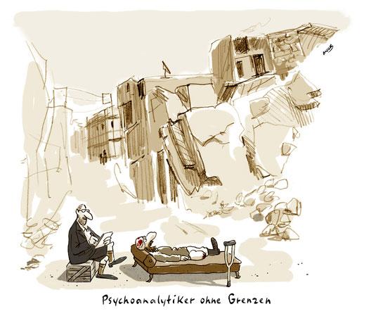 Cartoon von Mock zum Thema Psychoanalyse