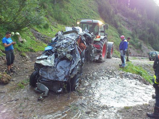 Unfall Schafalm am 23.07.2012