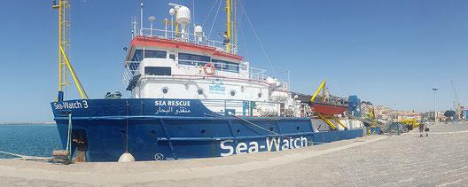 Die Sea-Watch 3 im Hafen von Licata. Foto: Sea-Watch.e.V.