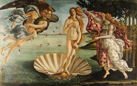 Рождение  Венеры Ботичелли - самые известные картины в мире