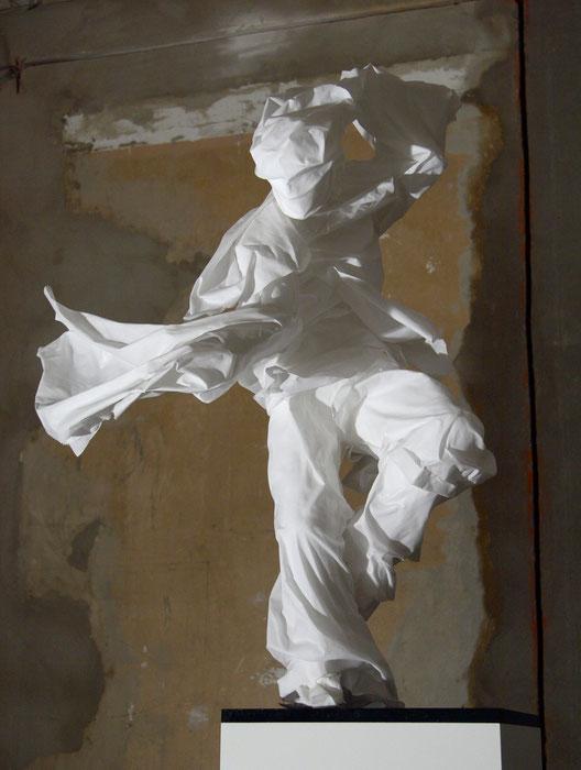 Hattori Hanzo Steel Pos.2, 2007, Stoff, Styropor, Metall, Foto: Sophia Tachias