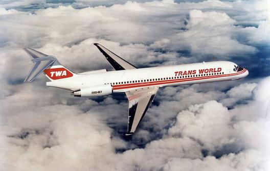 TWA MD-87-Modellzeichnung/Courtesy: McDonnell Douglas