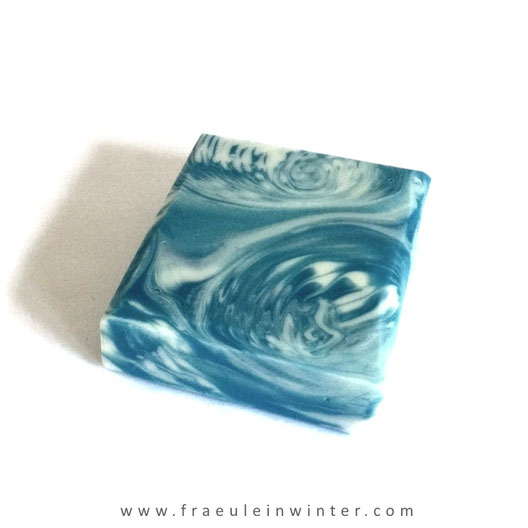 """Stormy Sea"". Handmade soap by Fräulein Winter."