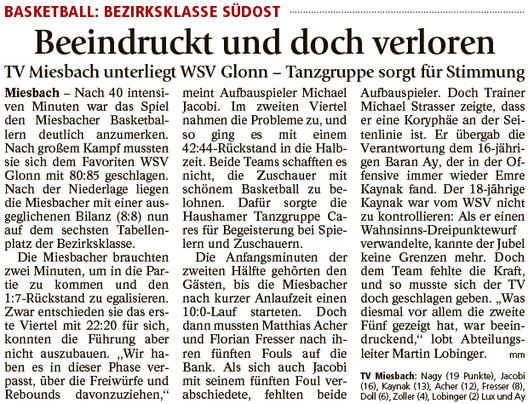 Bericht im Miesbacher Merkur am 14.3.2017 - Zum Vergrößern klicken