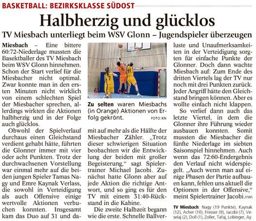 Bericht im Miesbacher Merkur am 12.12.2017 - Zum Vergrößern klicken