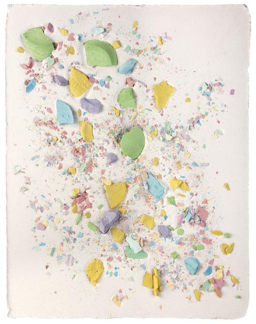 Plaster Painting #4, 2016, pigmented plaster on plaster, 52x40cm  Foto: Anna Lott Donadel