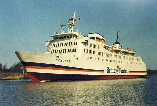 M/V Benodet durant sa courte carrière chez Brittany Ferries.
