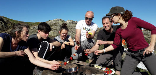 balade fondue au chocolat ariège pyrénées montagne babeth famille