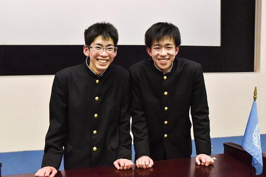 左から 小塚慶太郎くん(2年)、宗武 陸くん(1年)