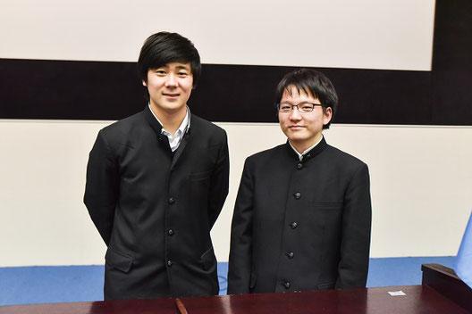 左から 田久保将人くん(1年)、山田幸貴くん(1年)