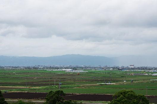 佐賀空港から見る佐賀市内