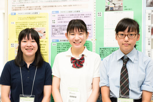 左から 齋藤優圭さん、佐藤美優さん、渡邉彩花さん(全員3年)