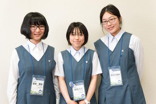 左から 宮本果弥さん、森田メリイさん、吉井万里奈さん