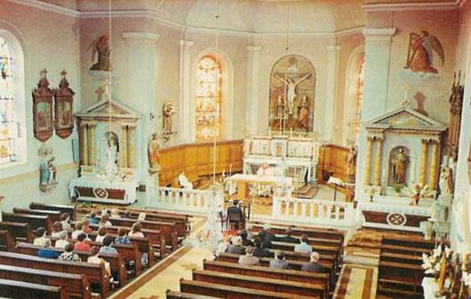 Photo du chœur de l'église de Niderviller avant la restauration de 1975