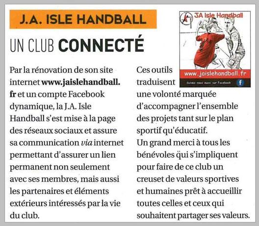 """article paru dans le magazine """"Isle mag"""" de mai 2017 n°47"""